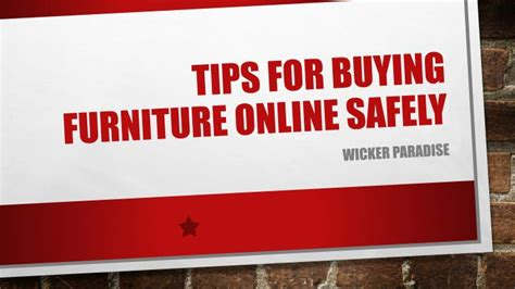 buying couches online ppt wicker paradise tips for buying furniture online