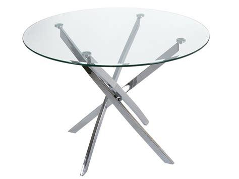 mesa redonda de cristal comedor mesa redonda de cristal con patas de acero inoxidable