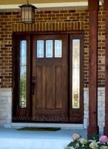 What Are Exterior Doors Made Of Exterior Doors Craftsman Front Doors Chicago By Nicks Building Supply