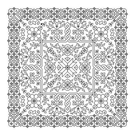black embroidery pattern printable blackwork cross stitch patterns