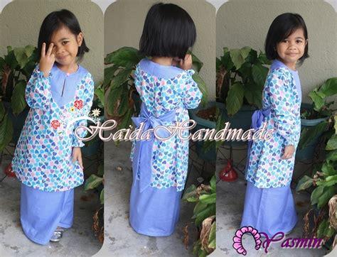 Baju Kurung Kanak Kanak Cotton haida handmade baju kurung kanak kanak beriben