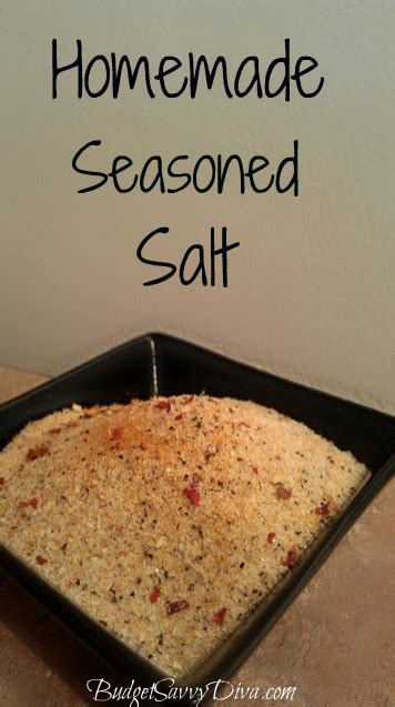 diy seasoning salt seasoned salt recipe budget savvy