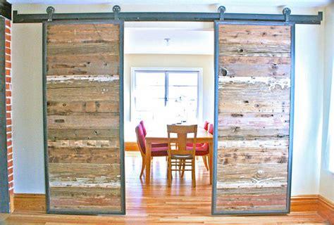 barn doors in reclaimed wood tracks included by dancinggrains