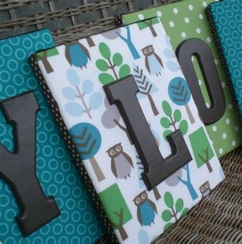 fabric crafts canvas fabric on canvas with wooden letters after finished with