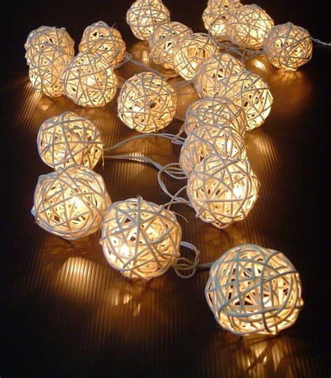 christmas decorative light balls diy rattan ball patio lights home design garden