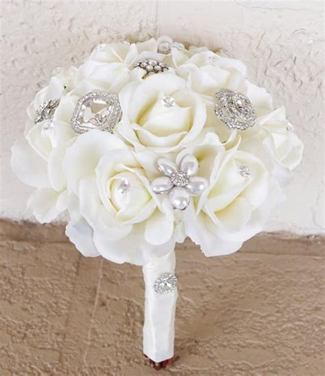 flower wedding brooches silk brooch wedding bouquet touch roses and flower brooch 8 quot bouquet