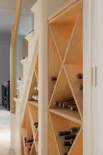 Simple wine storage idea for the small space under the modern