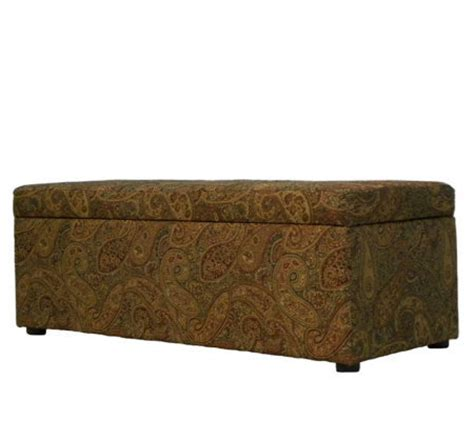 hinged storage bench handy living sienna paisley hinged storage ottoman bench