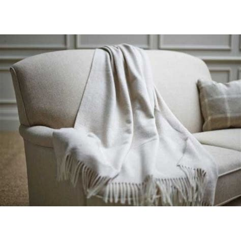wood bros sofa throw beige herringbone