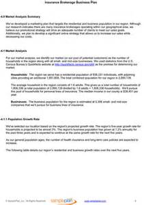 Insurance Agency Business Plan Template Insurance Business Plan