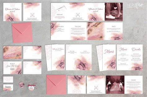 Papeterie Hochzeit by Handlettering Kalligraphie F 252 R Eure Hochzeit