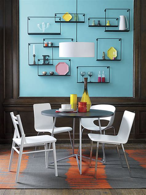 Dining Room Wall Shelves | wall decor ideas for a cool dining room