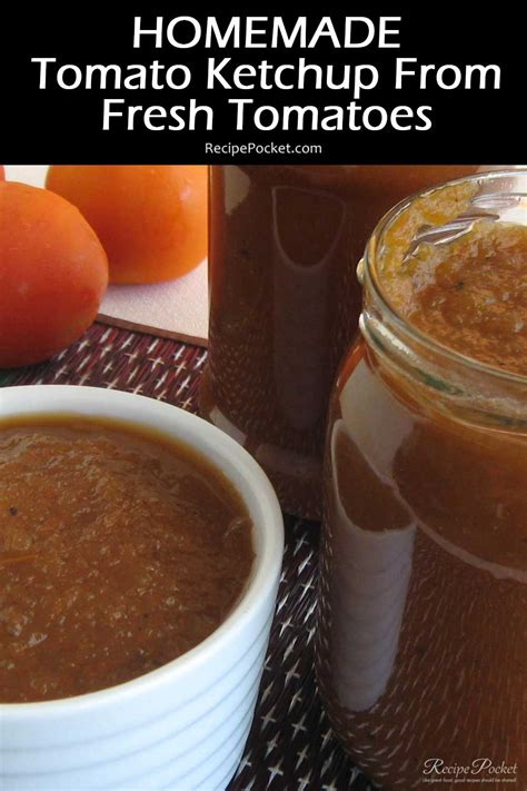 Homemade Tomato Ketchup From Fresh Tomatoes   Recipe Pocket Homemade Ketchup Recipe Fresh Tomatoes