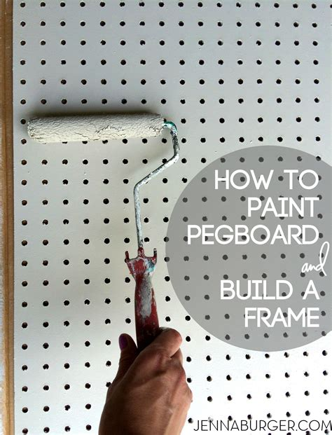pegboard design diy how to paint pegboard build and install a frame