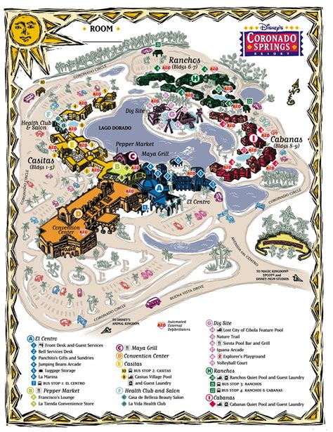 coronado springs resort map walt disney world resort hotels to neverland travel disney vacations