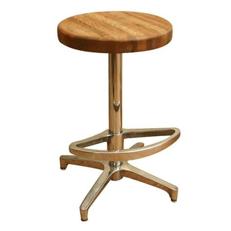 wood block bar stool butcher block and aluminum counter height stool for sale