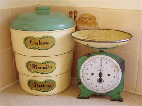 everything and the kitchen vintage kitchen things cake tins and scales that were my