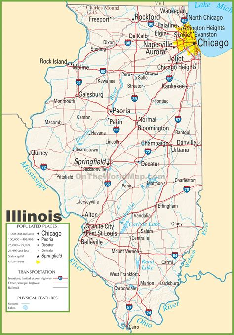 interstate map of usa with cities illinois map usa map guide 2016