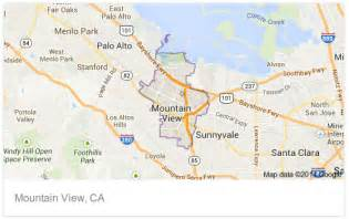 map of mountain view california image gallery mountain view california map