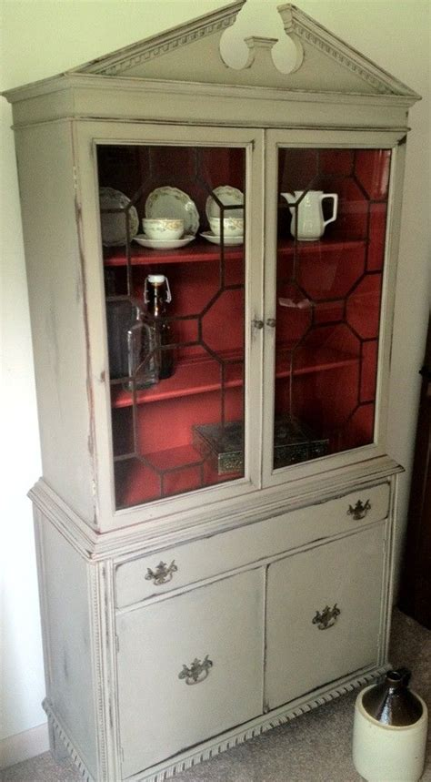 chalk painted antique china cabinet custom antique distressed chalk painted teak china hutch