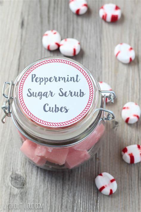 printable label for peppermint sugar scrub peppermint sugar scrub cubes recipe lydi out loud