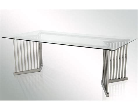 Modern Glass Dining Table by Modern Glass Rectangular Dining Table 44d8978t