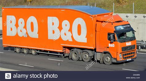 volvo lorry b q store delivery volvo lorry trailer on motorway stock