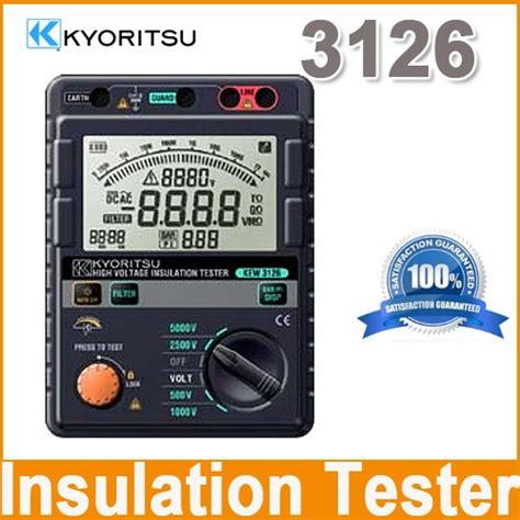 Insulation Tester Kyoritsu 3128 High Voltage Insulation Tester kyoritsu 3126 high voltage insulation tester
