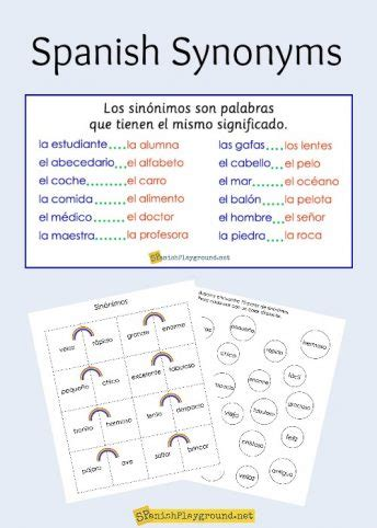 theme synonym in spanish toys and games archives spanish playground