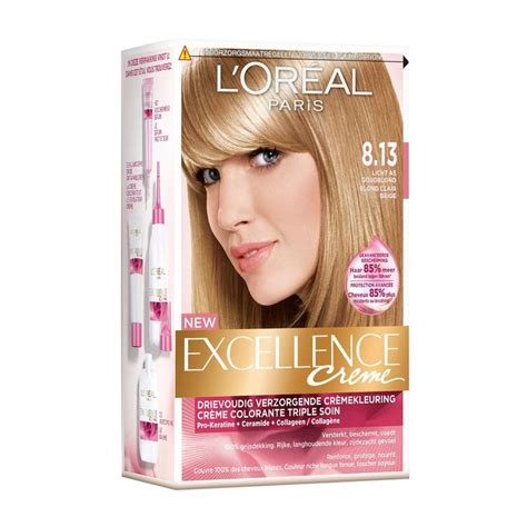 loreal excellence hair color in loreal excellence haircolor 8 13 light ash golden