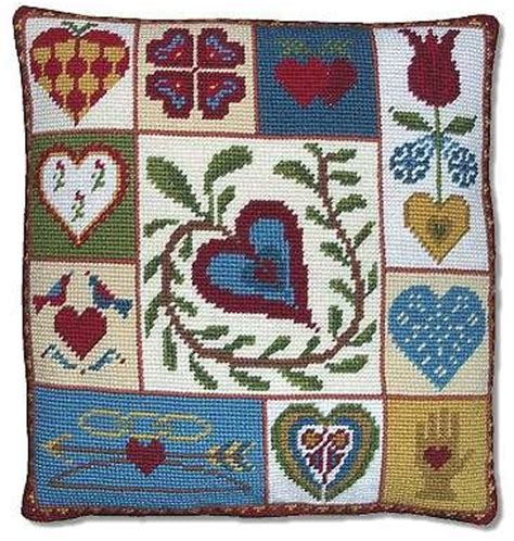 Patchwork Kits - tapestry and needlepoint kits shaker patchwork hearts