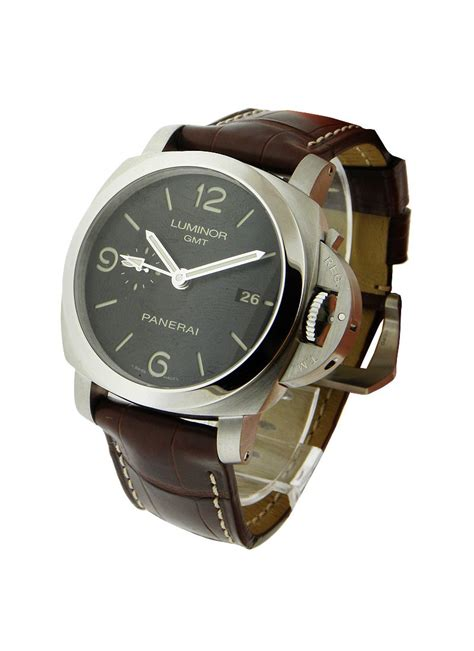 Panerai Power Reserve Silver Brown Leather Automatic pam00320 panerai 1950 gmt power reserve essential watches