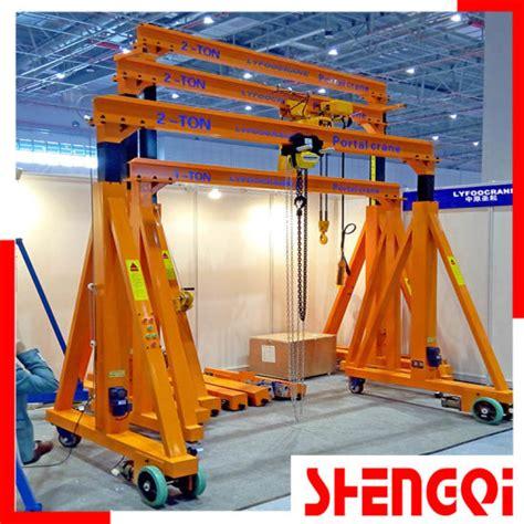 China Manual Gantry Crane 0 5 5t No Rail Free Rotating