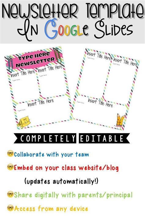 amazing of free printable newsletter templates for teachers