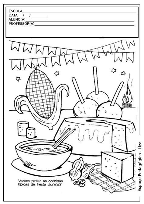 casa cultura pu ol atividades desenhos de festas juninas para colorir