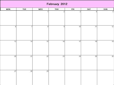 February 2012 Calendar Pin February 2012 Calendar On