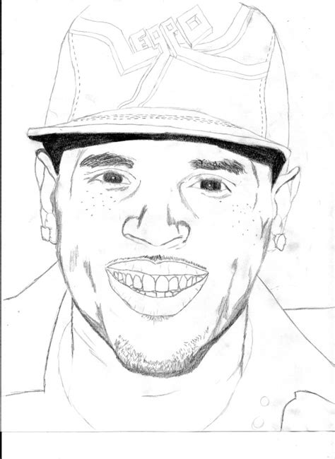 Chris Brown Coloring Pages how to draw chris brown