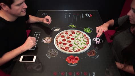 touchscreen pizza ordering table of the future will land