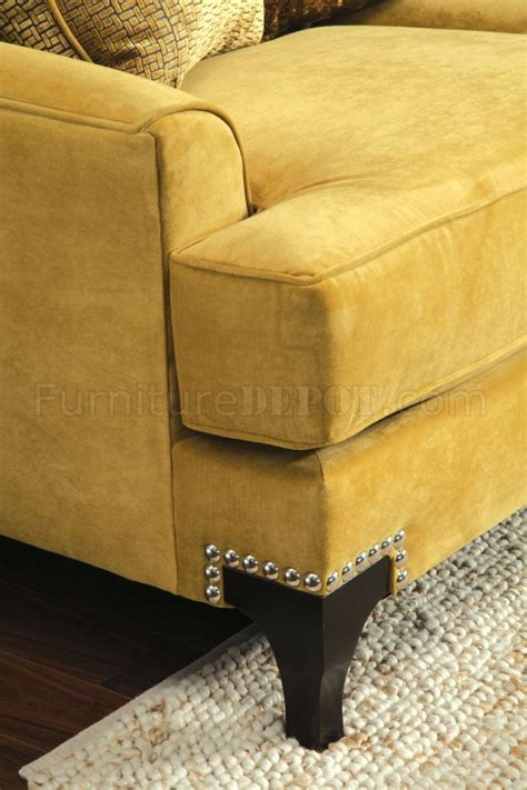 gold fabric sofa viscontti sm2201 sofa in gold tone fabric w options