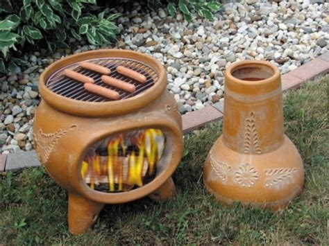 Designer Chiminea Chimney Portable Outdoor Fireplaces Design Escargo