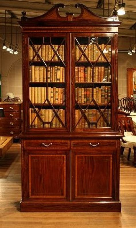 antique edwardian mahogany bookcase loveday antiques