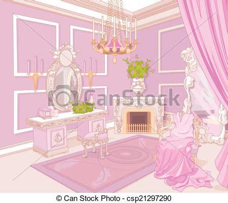 Princess Bedroom Drawing Eps Vectors Of Princess Dressing Room In A Palace