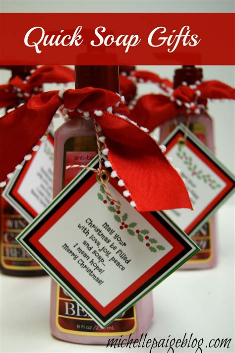 michelle paige blogs quick soap gift for christmas