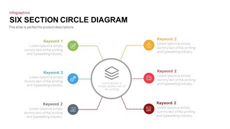 section of a circle four and six section circle diagram slidebazaar