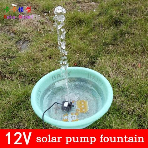 12v tuin pomp solar power fountain pool water pump garden irrigation