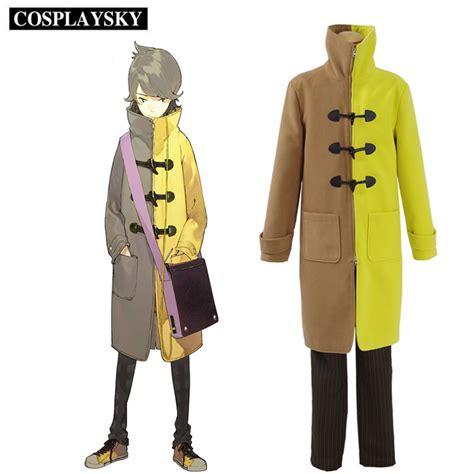 Costume Jaket Anime Blue Yellow anime occultic nine yuta gamon costume school boy yellow brown coat