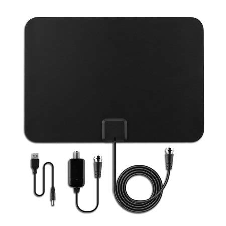 seneo digital hd tv antenna with detachable lifier indoor antenna booster and 10ft cable