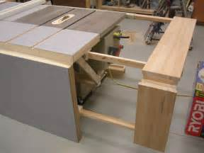 table saw bench plans folding sliding table saw
