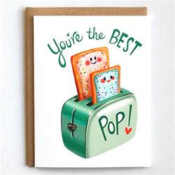 fathers day card birthday card best pop pun card