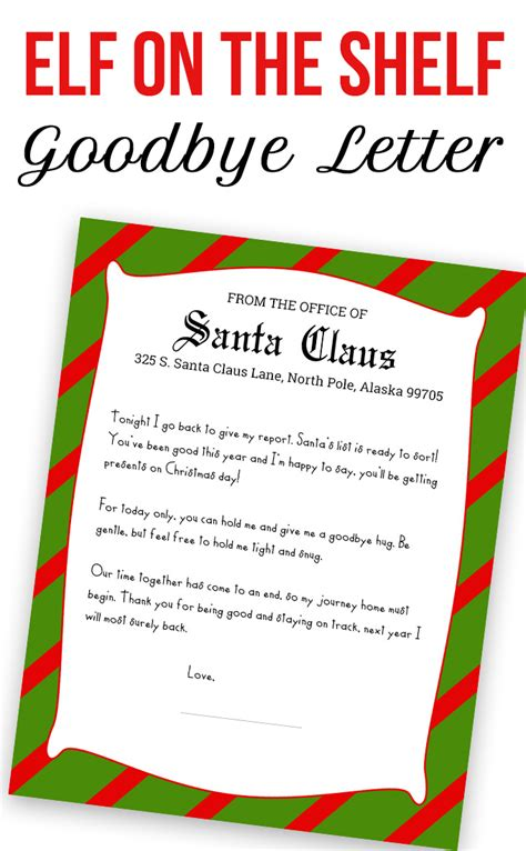 printable goodbye letter to elf on the shelf elf on the shelf printable kit love and marriage